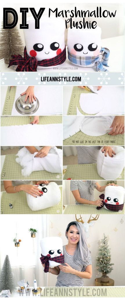 No Sew Super Cute DIY Marshmallow Plushie! Learn how to make them!!! Makes adorable Christmas gifts for the kids.: