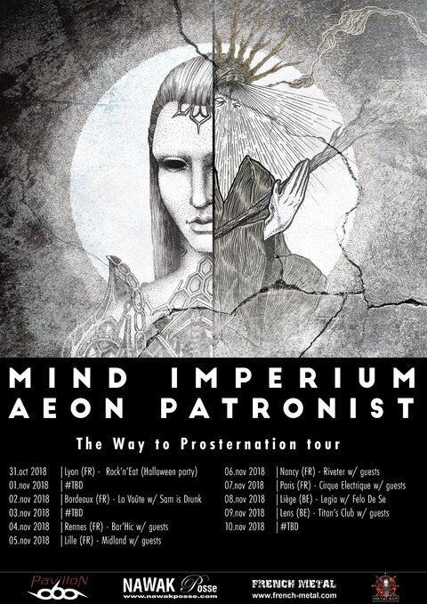MIND IMPERIUM et AEON PATRONIST en tournée cet automne