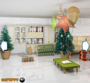 Find the objects in X-Mas room