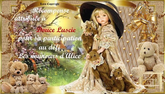 """Récompenses pour le défi""""Les petits nounours d'Alice"""""""