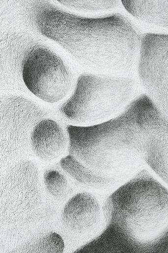 mur érodé, dessin mural, relief, roche, erosion, art, graphite