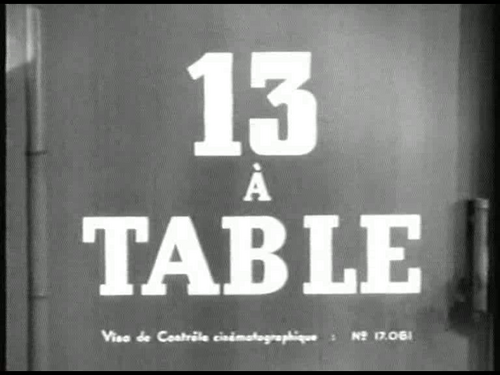 TREIZE A TABLE - BOX OFFICE ANNIE GIRARDOT 1955