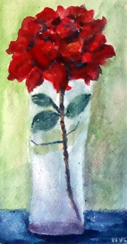 Rose rouge du jardin