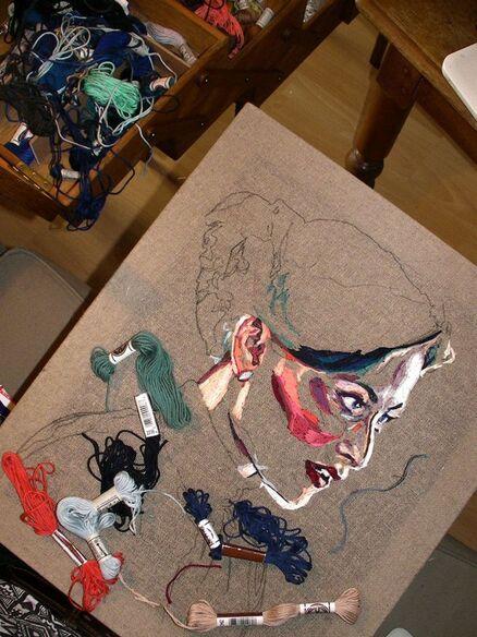 Art textile : les portraits