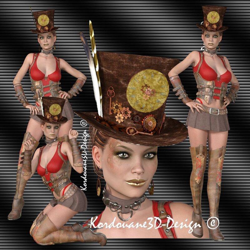 Edouarlise (tube femme steampunk-png)