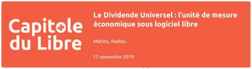 Le Dividende Universel : l'unité de mesure économique sous logiciel libre