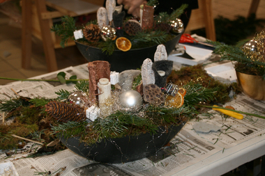 Centre de table de Noël