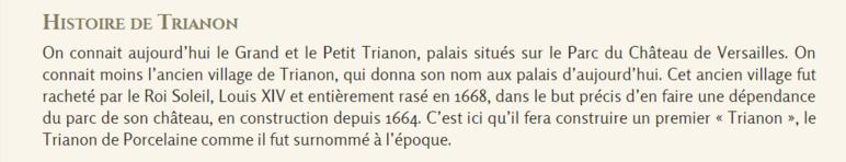 ** VERSAILLES  - Le Grand TRIANON;**