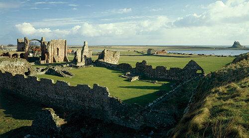 Les ruines de Lindisfarne...