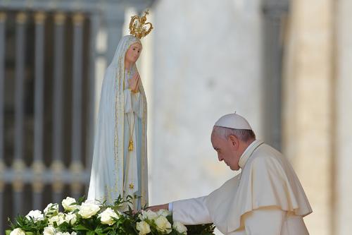Le pape François à Fatima au Portugal