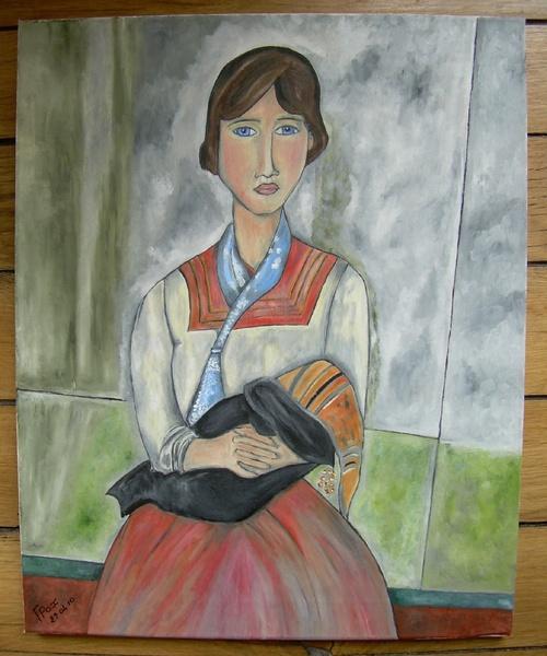 La Gitane de Modigliani par F.Pax.