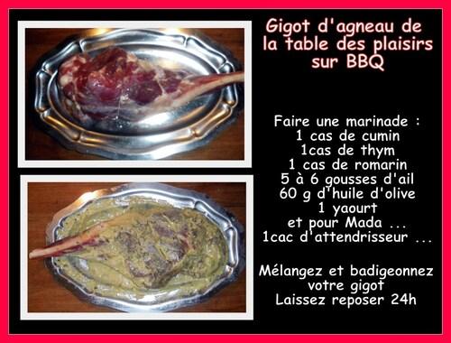 GIGOT D'AGNEAU MARINE ET CUIT AU BBQ