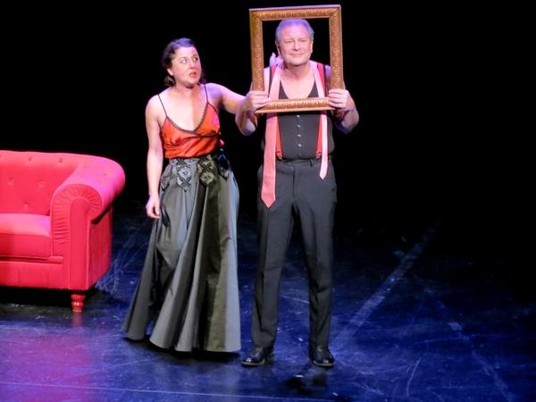 """La pièce de théâtre """"Histoires Deux"""" a beaucoup réjoui  le public du Théâtre Gaston Bernard ..."""