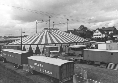 le cirque Jean Richard en  1981 ( archives Francis Brunaud)