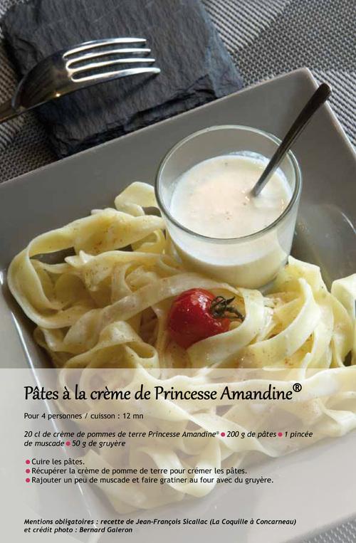 Pâtes à la crème de Princesse Amandine