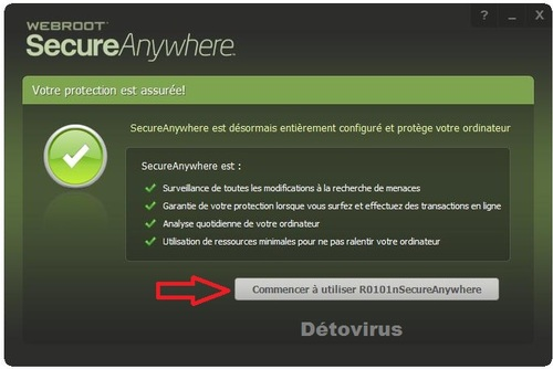 Webroot SecureAnywhere Antivirus 2014 - Licence 6 mois gratuits