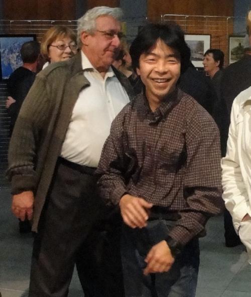 Tatsuo Jikumaru a exposé à la galerie Amplitude à Troyes...