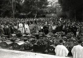 obsèque des européens  victimes du 20 aout 1955
