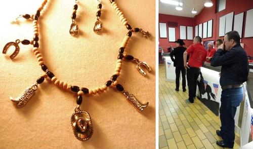 Exposition de mes bijoux au bal country de Neuillé-Pont-Pierre