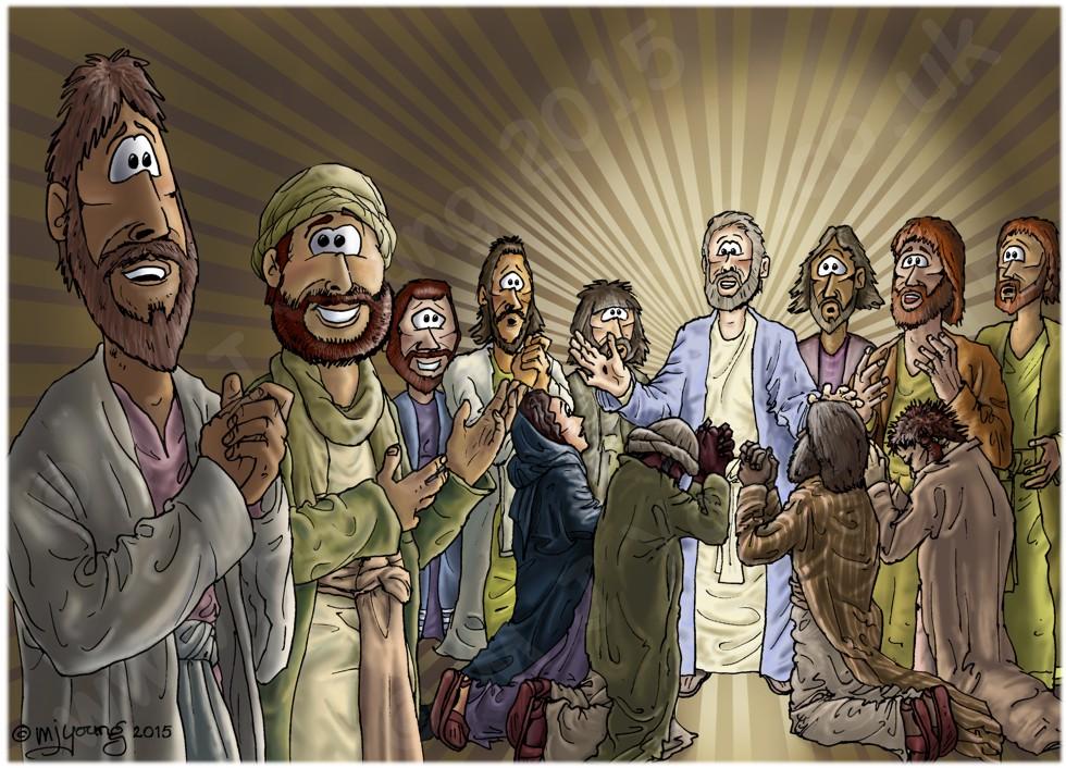 Mark 16 - Resurrection of Jesus - Scene 05 - Message (Shorter ending)