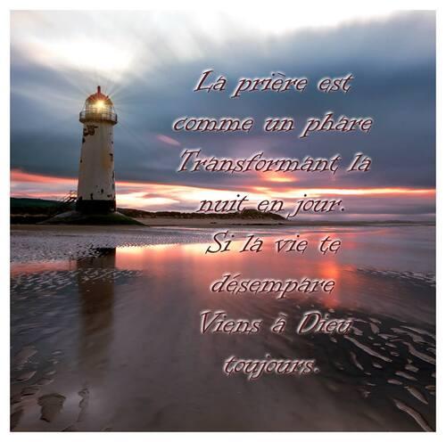 La prière est comme un phare