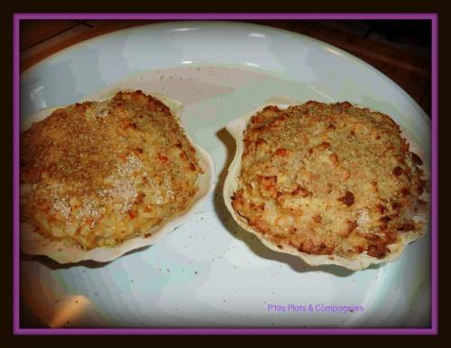 Coquilles express crabe, surimi