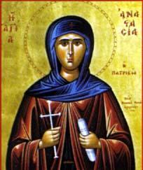Sainte Anastasie. Ermite à Scété, en Egypte († 567)