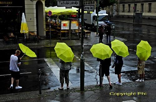 Berlin sous la pluie