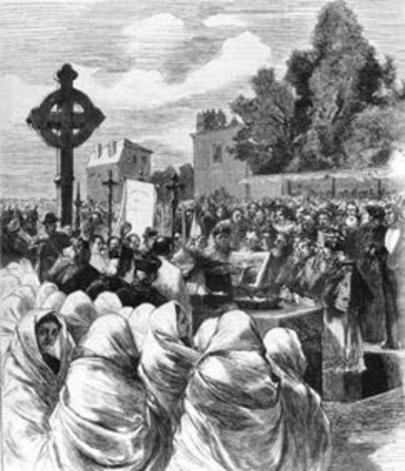 La pose de la première pierre du Sacré-Cœur