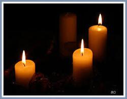 troisième dimanche de l'Avent...3 bougies...