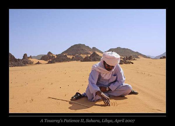 Touareg dans le Sahara