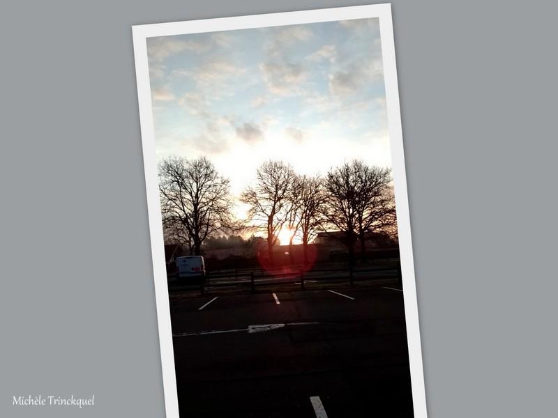 Le ciel au matin du 25 janvier... et des gouttes d'eau du 26 janvier...