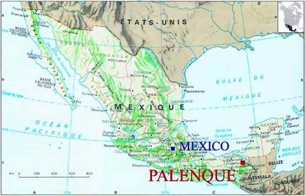 Patrimoine mondial de l'Unesco - Palenque - Mexique