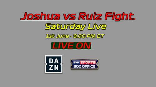 Anthony Joshua vs. Andy Ruiz betting odds