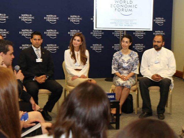 Rania au forum économique mondial régional