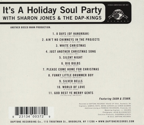 "2015 : Album "" It's A Holiday Soul Party "" Daptone Records ‎DAP-037 [ US ]"