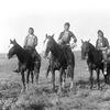 Crow riders. Crow Indian Reservation, Montana. Early 1900s. Photo by Richard Throssel. Source - Univ