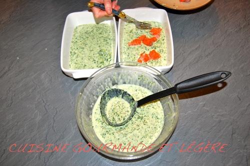 LASAGNES SAUMON MASCARPONE et ses légumes