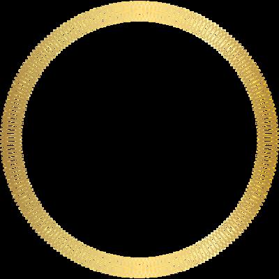 Gold circular border