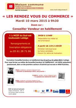 Les rendez-vous du commerce : le 10 mars à la MCEF de Labège