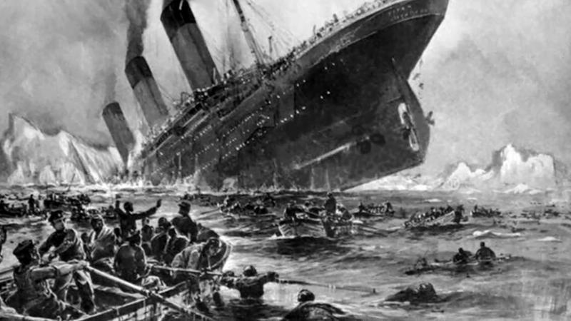 Illustration de la tragédie du Titanic.