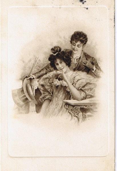 Carte ancienne - Couple