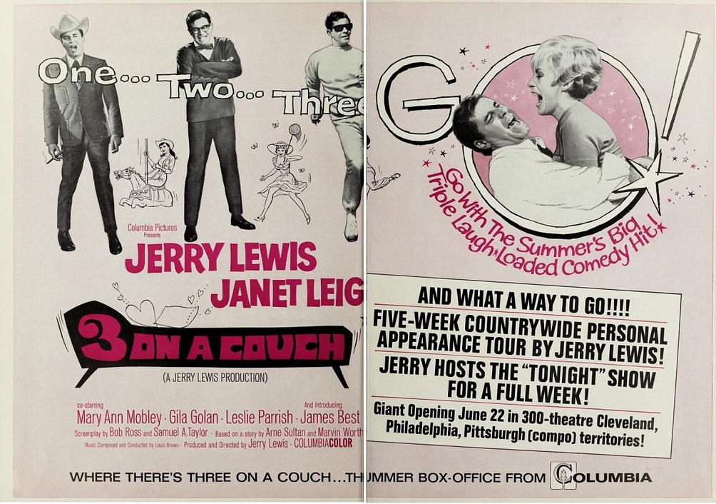 3 ON A COUCH BOX OFFICE USA 1966