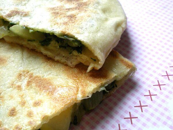 Crèpes Turc épinard mozzarella emmental