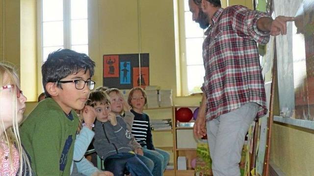 Pierre Bouillet est intervenu à l'école Saint-Jean-Baptiste.