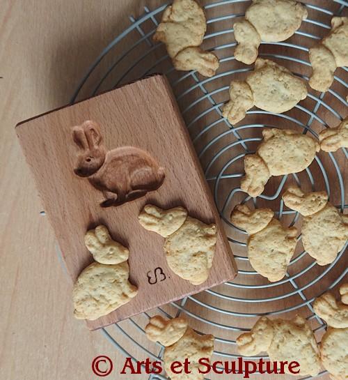 Recette de biscuits au miel en forme de lapin - Arts et Sculpture, sculpteur sur bois, artisan d'art
