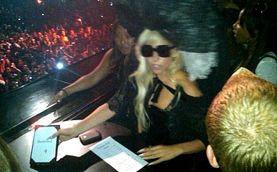 "Lady Gaga assiste au "" 4 Intimate Show with Beyonce "" #3 day"