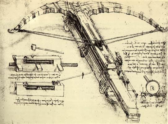 Arbalète de Léonard de Vinci, vers 1500