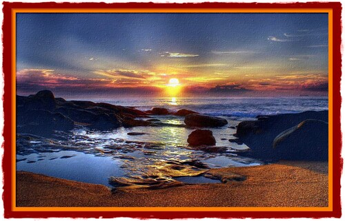Dessin  et peinture  - vidéo 2277 : Comment peindre facilement un coucher de soleil, pour les débutants ?