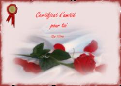 Certificat d'Amitié